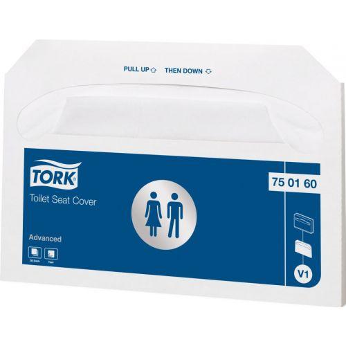 Покрытия на унитаз Tork Advanced 750160 V1 (Блок: 20 уп. по 250 шт)