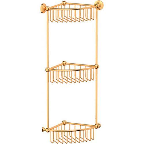 Полка 3SC Stilmar STI 209 угловая, 3-ярусная, золото
