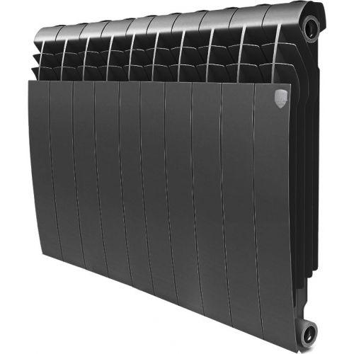 Радиатор биметаллический Royal Thermo BiLiner 500 10 секций, noir sable