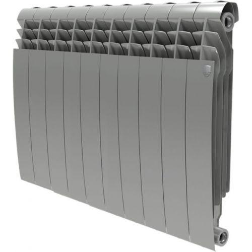 Радиатор биметаллический Royal Thermo BiLiner 500 10 секций, silver satin
