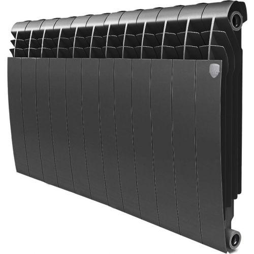 Радиатор биметаллический Royal Thermo BiLiner 500 12 секций, noir sable