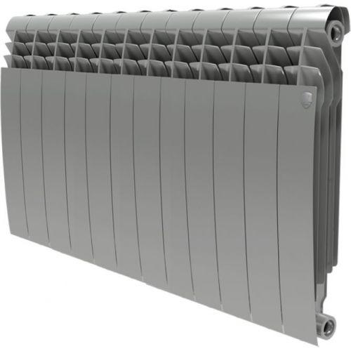 Радиатор биметаллический Royal Thermo BiLiner 500 12 секций, silver satin