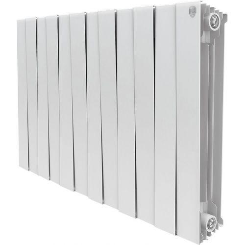 Радиатор биметаллический Royal Thermo Piano Forte 500 bianco traffico 12 секций, белый
