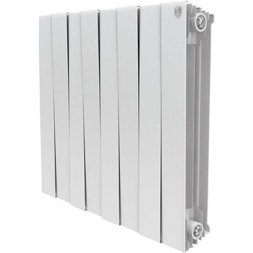 Радиатор биметаллический Royal Thermo Piano Forte 500 bianco traffico 8 секций, белый