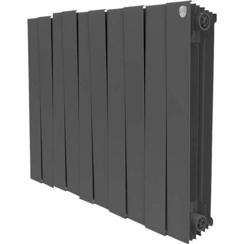 Радиатор биметаллический Royal Thermo Piano Forte 500 noir sable 10 секций, черный