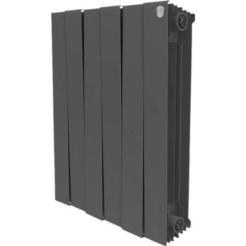 Радиатор биметаллический Royal Thermo Piano Forte 500 noir sable 6 секций, черный
