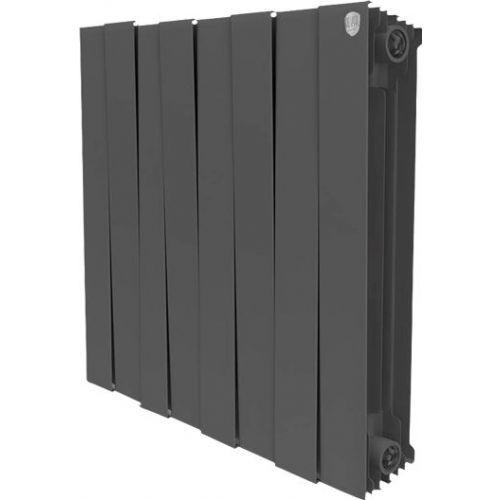 Радиатор биметаллический Royal Thermo Piano Forte 500 noir sable 8 секций, черный