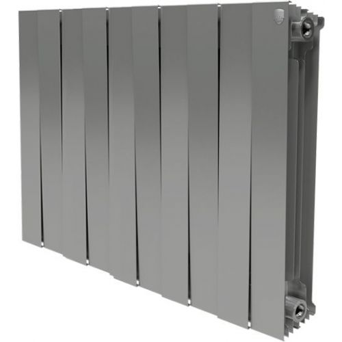 Радиатор биметаллический Royal Thermo Piano Forte 500 silver satin 10 секций, серебро