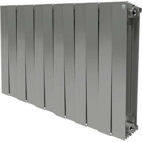 Радиатор биметаллический Royal Thermo Piano Forte 500 silver satin 12 секций, серебро
