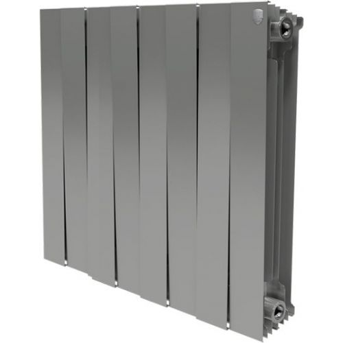 Радиатор биметаллический Royal Thermo Piano Forte 500 silver satin 8 секций, серебро