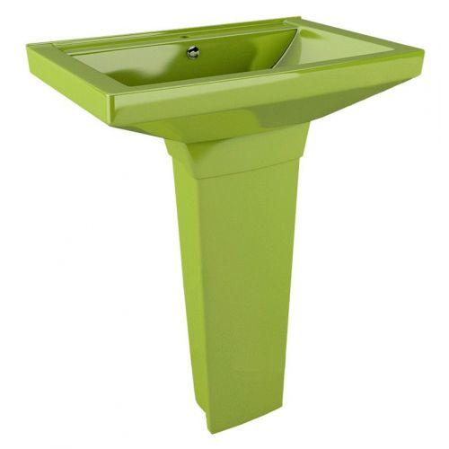 Раковина Arcus 330 light green с пьедесталом