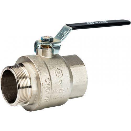 Шаровый кран Stout SVB-0003 2 нар-вн, полнопроходной, ручка рычаг