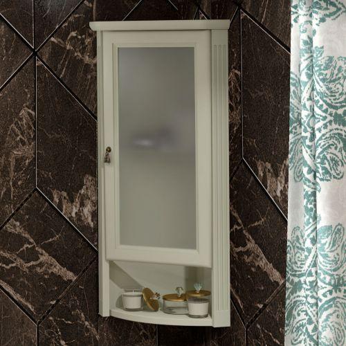 Шкаф Opadiris Клио 32 R, угловой, слоновая кость, матовое стекло