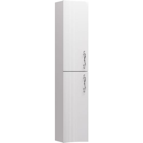 Шкаф-пенал Aima Design Amethyst 30П L white, вогнутый