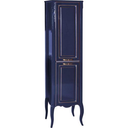 Шкаф-пенал ASB-Woodline Эмили 40 синий, патина золото
