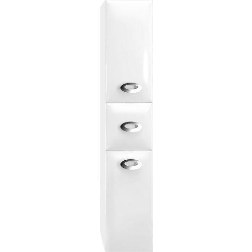 Шкаф-пенал Marka One Ovale 30П White L