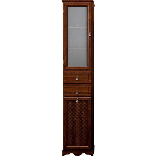 Шкаф-пенал Opadiris Тибет 40 L нагал, матовое стекло, с бельевой корзиной