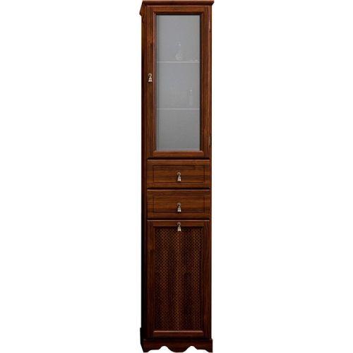 Шкаф-пенал Opadiris Тибет 40 R нагал, матовое стекло, с бельевой корзиной