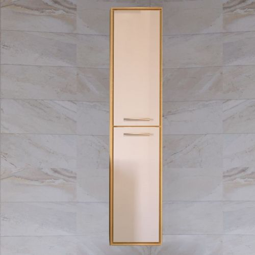 Шкаф-пенал Raval Frame 160 белый, дуб сонома