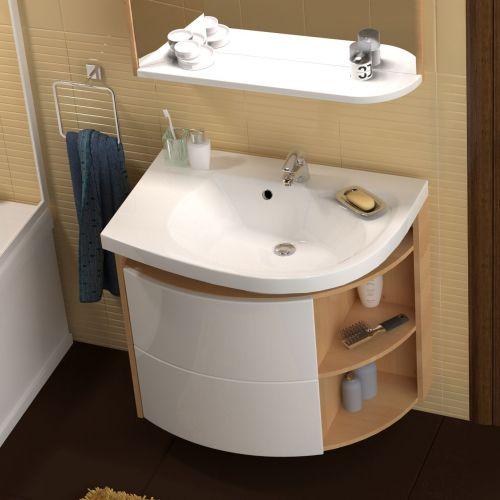 Шкафчик под умывальник для мебели Rosa Comfort левый (SDU) береза/белая СНИМАЕТСЯ С ПРОИЗВОДСТВА В 2019