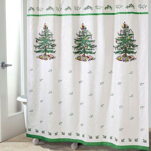 Штора для ванной Avanti Spode Christmas Tree 11523JCQH