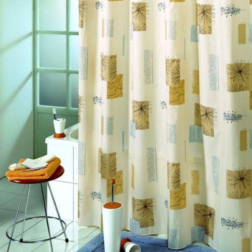 Штора для ванной Bacchetta 180х200 Contrasti бежевая