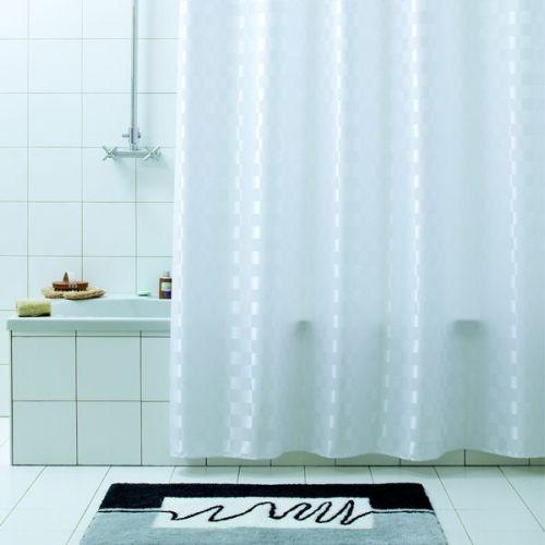 Штора для ванной Bacchetta 240х200 Quadretto белая