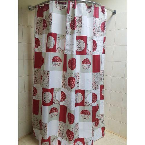 Штора для ванной Bath Plus 2100F/9 Geo, red