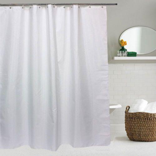 Штора для ванной Bath Plus Decor collection JAC1508 180x200, бело-серебреная