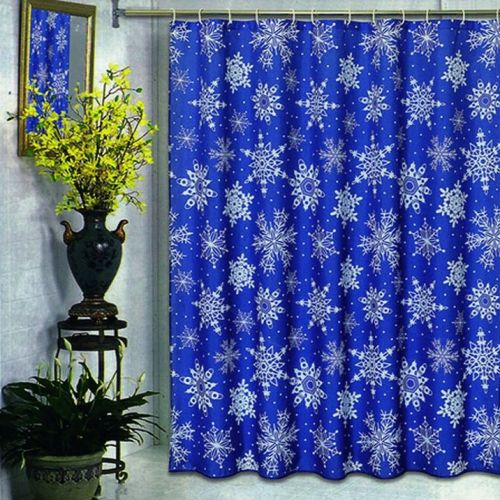 Штора для ванной Carnation Home Fashions Snow Flake