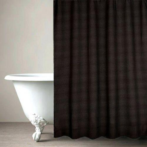Штора для ванной Carnation Home Fashions Waffle Weave Black