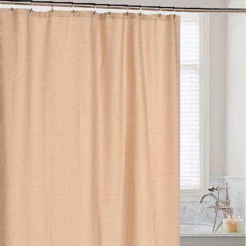 Штора для ванной Carnation Home Fashions Waffle Weave Linen