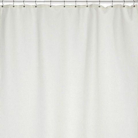 Штора для ванной Carnation Home Fashions Waffle Weave White