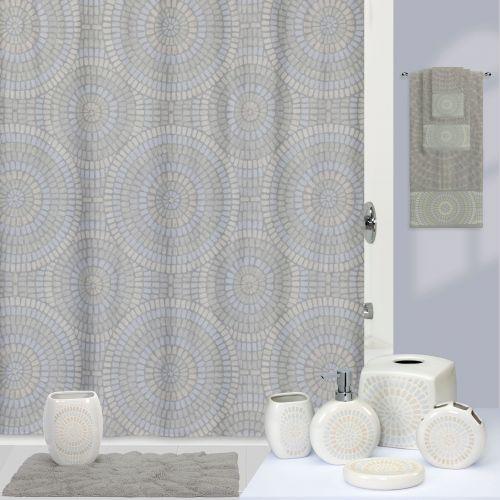 Штора для ванной Creative Bath Capri S1222MULT серая