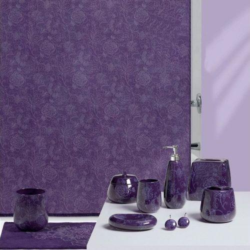 Штора для ванной Creative Bath Fine Lines S1082PUR фиолетовая