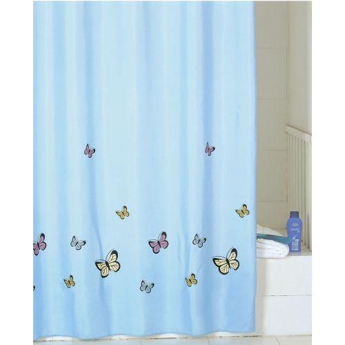 Штора для ванной Iddis Blue Butterfly