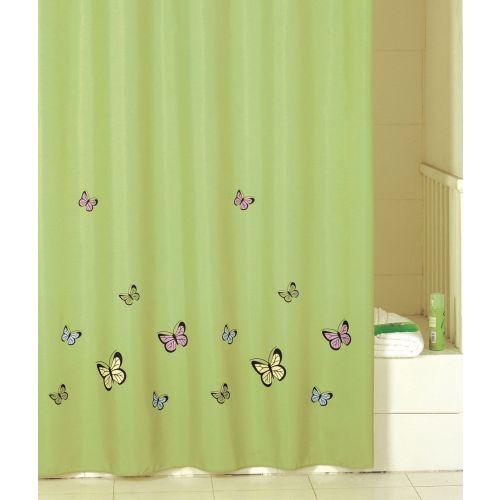 Штора для ванной Iddis Green Butterfly