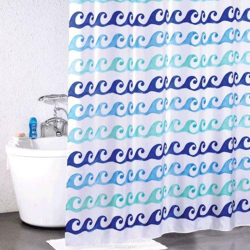 Штора для ванной Milardo Blue Curls