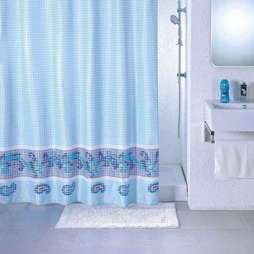 Штора для ванной Milardo Blue Fresco