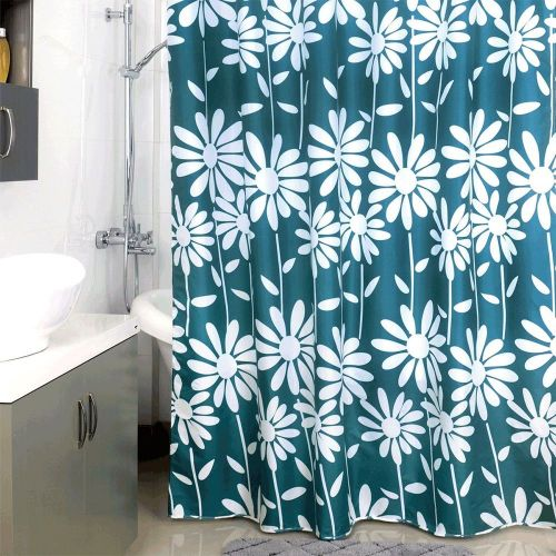 Штора для ванной Milardo Flowers Blue