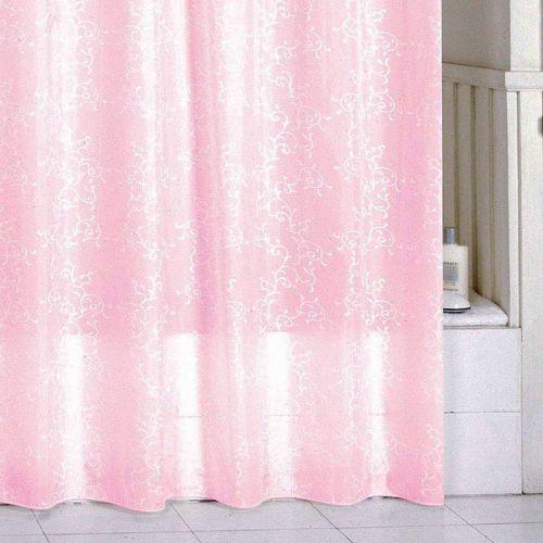 Штора для ванной Milardo Pink Leaf