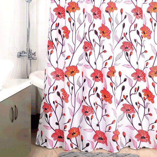 Штора для ванной Milardo Red Asters