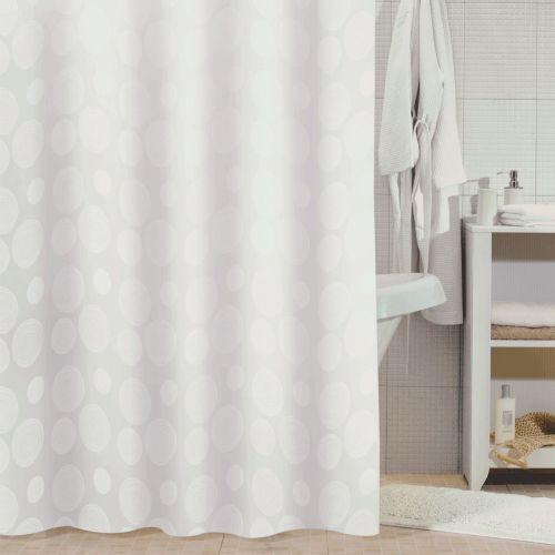 Штора для ванной Milardo White Mist