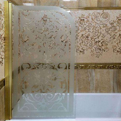 Шторка на ванну Sturm Mia декор, золото, L