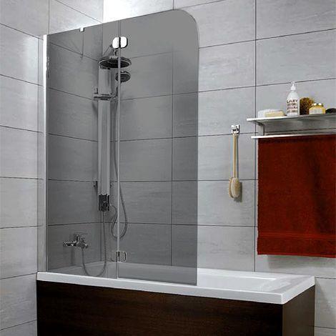 Шторка на ванну Radaway Torrenta PND 100 стекло графит L