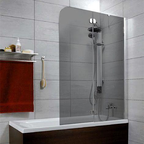 Шторка на ванну Radaway Torrenta PND 120 стекло графит R