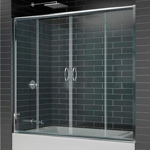 Шторка на ванну RGW Screens SC-61 1500х1500 профиль хром, стекло чистое
