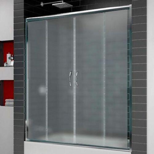 Шторка на ванну RGW Screens SC-61 1500х1500 профиль хром, стекло матовое
