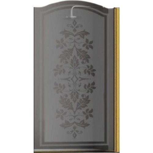 Шторка на ванну Sturm Juwel 90 см decor gold R