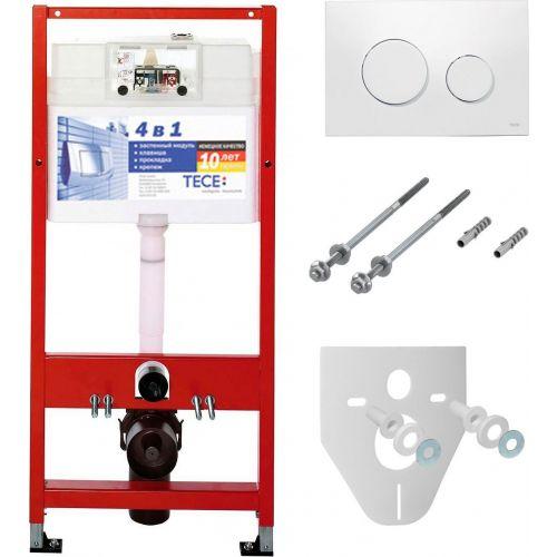 Система инсталляции для унитазов TECE Loop К400600 4 в 1 с кнопкой смыва